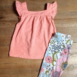 Gap and Carter's outfit 2 toddler flutter sleeves